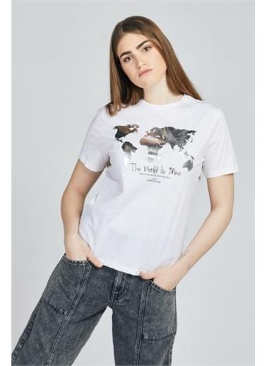 Loft Loft  Kadın Tişört LF2026995 LF2026995015 Beyaz